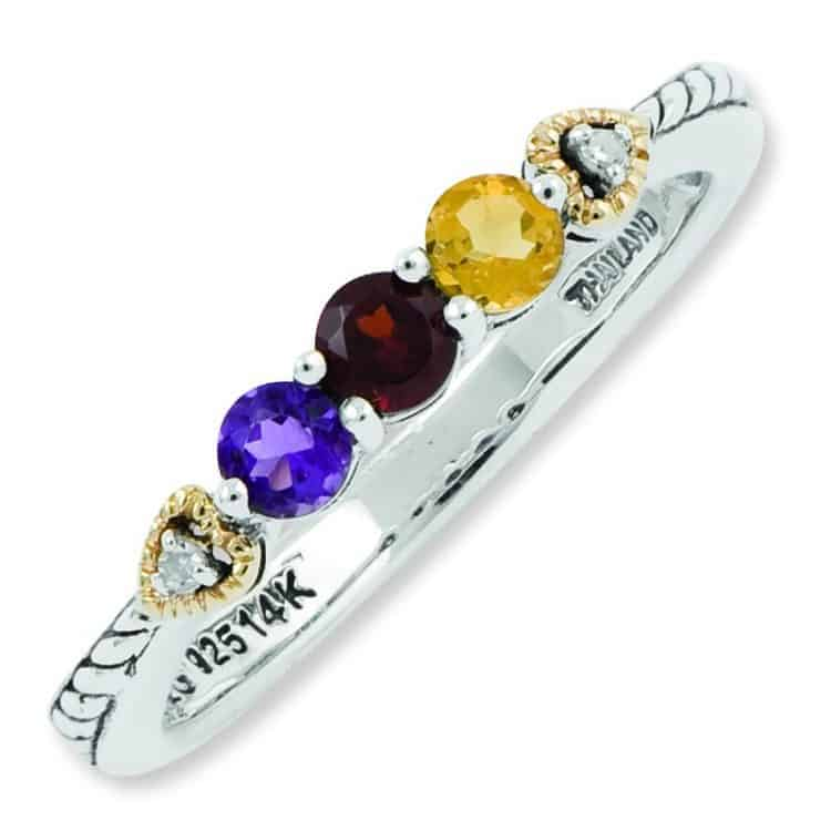 Three Birthstone Ring