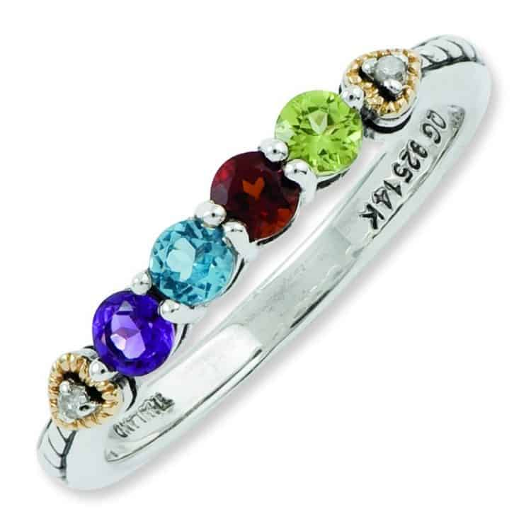 Four Birthstone Ring