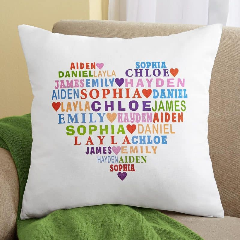 Heart of Love Personalized Throw Pillow