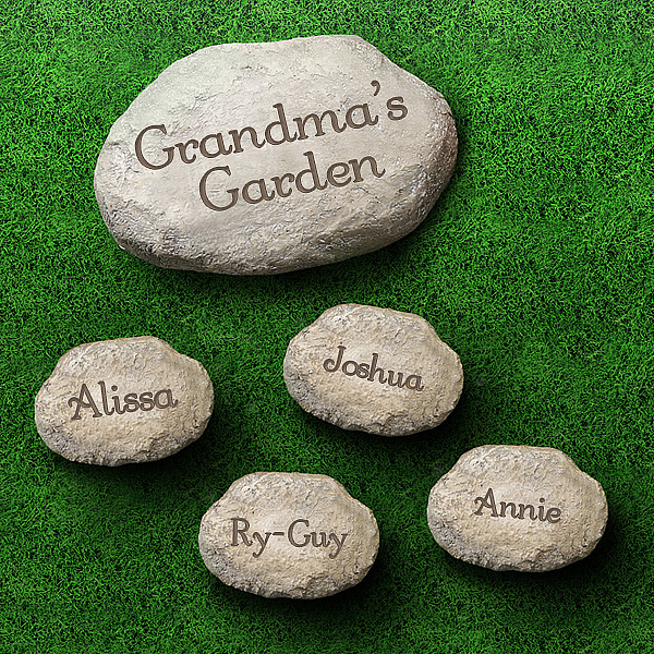 Personalized Decorative Garden Stones