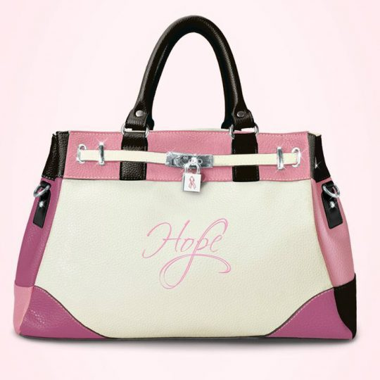 Striking purse is as inspiring as it is beautiful! A stylish way to support Breast Cancer Awareness.