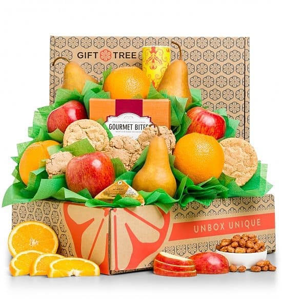 Healthy Choices Fruit & Cookies Gift Basket