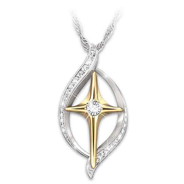 Faith is Believing Diamond Cross Necklace