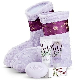 Spa Booties with Lavender Aromatherapy Gift Set