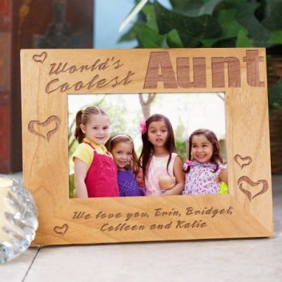 World's Coolest Aunt frame - the perfect gift for the fun aunt!