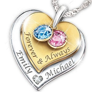 Forever & Always Personalized Diamond Birthstone Necklace