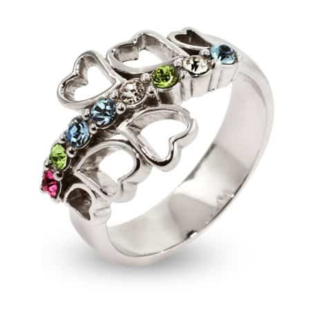 8 Stone Custom Birthstone Family Mothers Ring