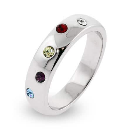 Birthstone Crystal Custom Family Ring