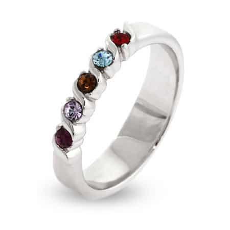 Custom Birthstone Family Ring