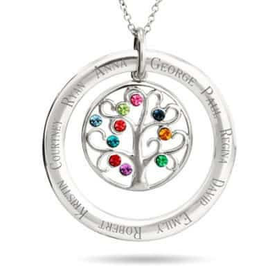Circle Necklace with Kids Names