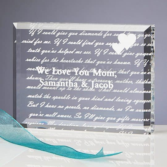 Personalized Poem Keepsake