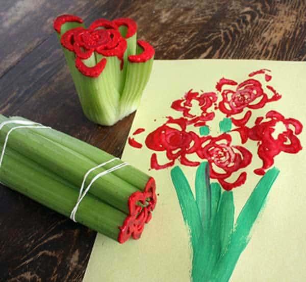 Celery Flower Bouquet Card
