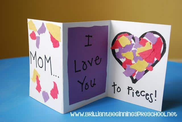 I Love You to PIeces Mothers Day Card