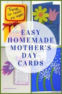 Easy Homemade Mother's Day Cards from the Kids