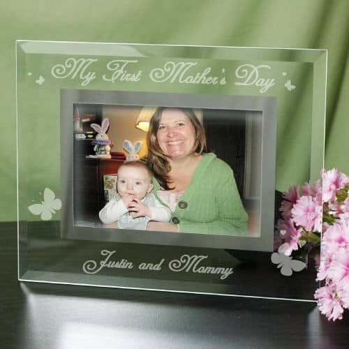 my first mothers day glass frame an elegant way for the new mom to preserve - Mother Picture Frame