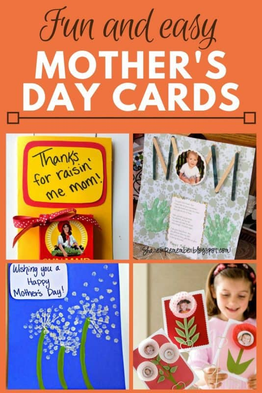 Fun and Easy Mother's Day cards for the kids to make - Touch Mom's heart this Mother's Day with this simple DIY Mother's Day cards.  Perfect for toddlers, kids, preschoolers to make at home or in class.