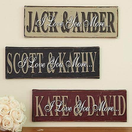 Remind your wife how much you love her with this beautiful personalized canvas.  A Mothers Day gift she'll love displaying all year round!