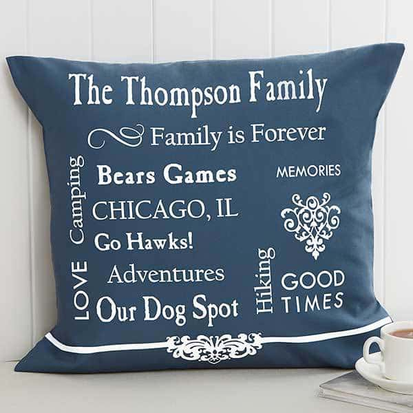 Personalized Our Family Memories Pillow