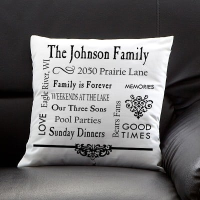 Personalized Our Family Pillow