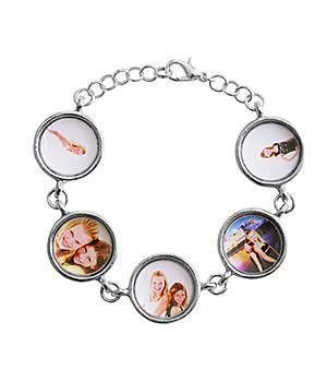 Mother's Day photo charm bracelet - Mom or Grandma will be thrilled to show everyone this unique bracelet that features  5 pictures of their loved ones.