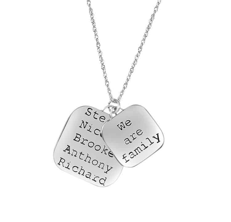 We Are Family Necklace - Personalized
