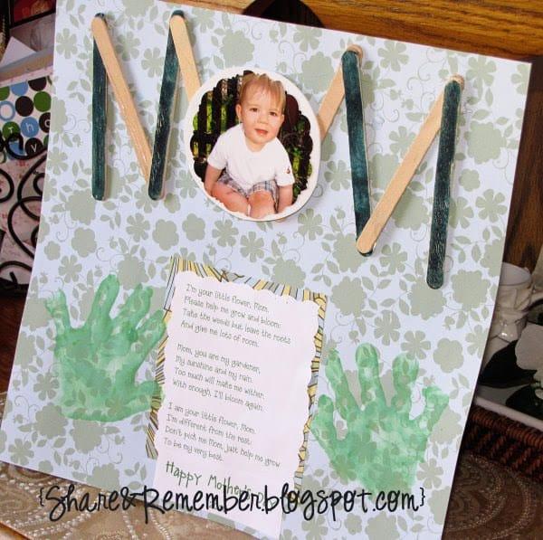 Mother's Day Poem Handprint Card