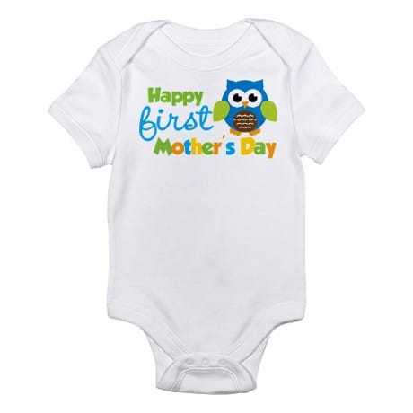 Happy 1st Mother's Day Owl Design Baby Clothes