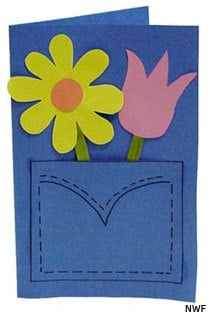 Homemade Blue Jeans Pocket Mothers Day Card