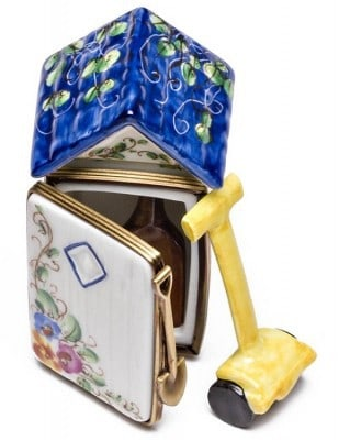 Garden Shed Keepsake Box With Removable Tools by Limoges