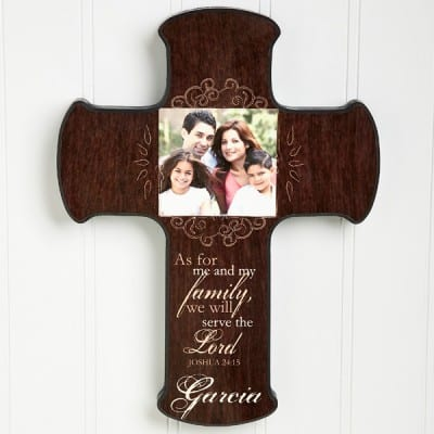Personalized Family Photo Cross