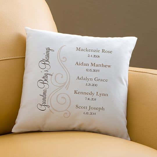 My Grandkids Personalized Throw Pillow - Choice of Colors