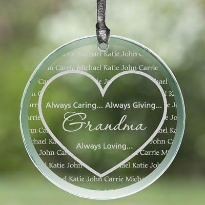 Grandma's Sweethearts Personalized Suncatcher