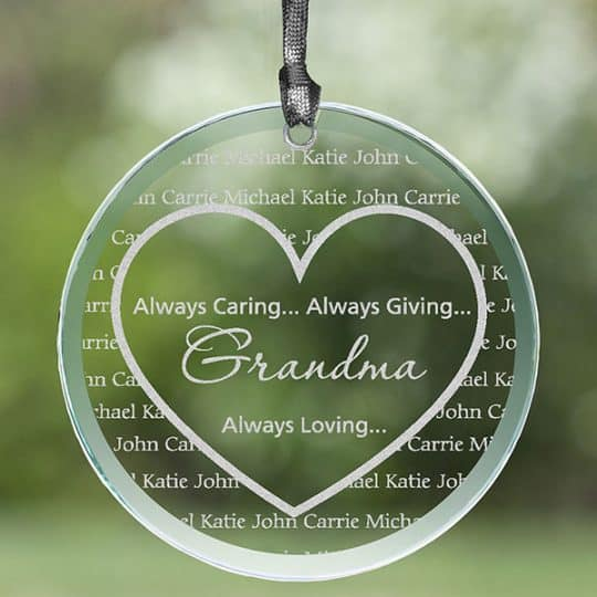 Grandma's Sweethearts Personalized Suncatcher