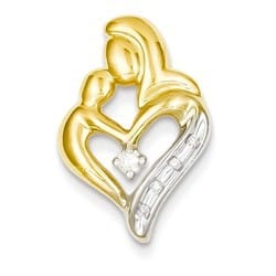 14k Gold Family Bond Diamond Heart Necklace