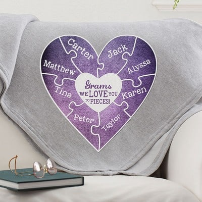 We Love You To Pieces Personalized Sweatshirt Blanket