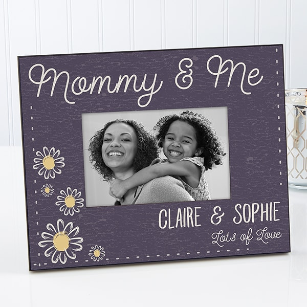 Floral Personalized Picture Frame – Choice Of Colors