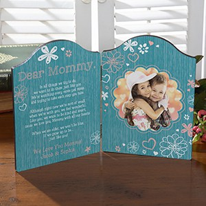 Personalized Photo Plaque - Choice of Colors