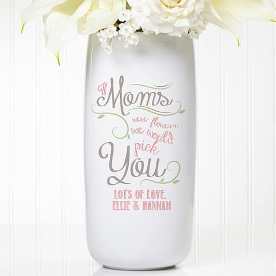 Loving Words to Her Personalized Ceramic Vase