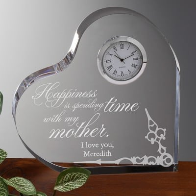 Loving Mother Personalized Heart Clock