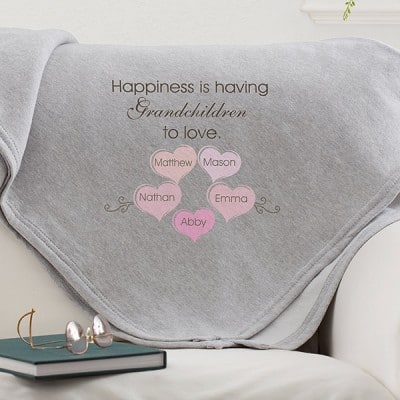Personalized Happiness is...Sweatshirt Blanket