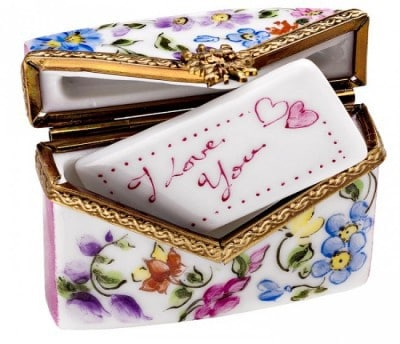 Envelope Box with I Love You Ceramic Piece Zoom Envelope Box with I Love You Ceramic Piece Envelope Box With I Love You Ceramic Piece by Limoges