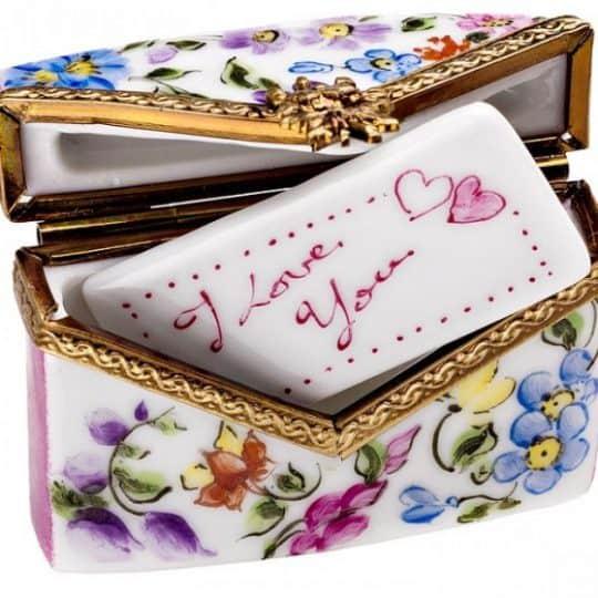 Envelope Box with I Love You Ceramic Piece Zoom Envelope Box with I Love You Ceramic Piece Envelope Box With I Love You Ceramic Piece by Limoges