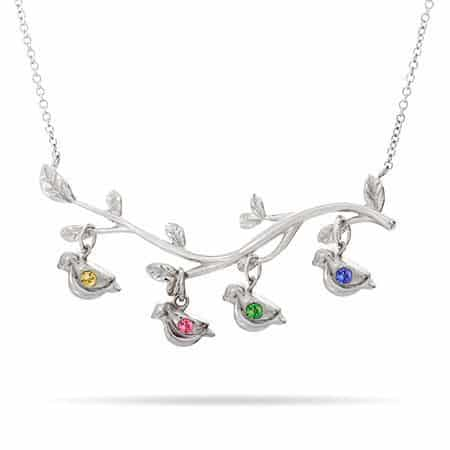 Birthstone BIrds on a Branch