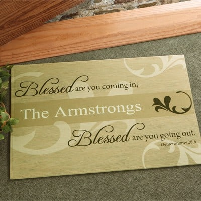 Blessed Are You Personalized Doormat