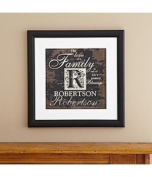 Family Initial Framed Print