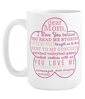 I Love You Because Personalized Mug for Mom