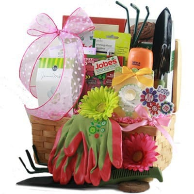 Mother's Day Gardening Gift Baskets - Delightful gardening gift basket is the perfect gift for any woman who enjoys gardening!