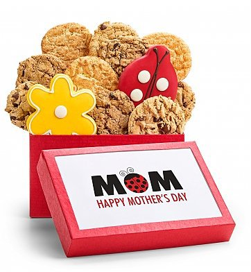 Mother's Day Gourmet Cookie Gift Box - What a cute gift box for the lady with a sweet tooth!