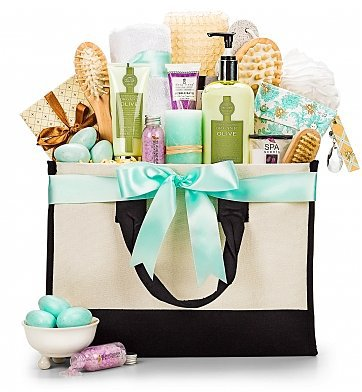 Mother's Day Luxury Spa Gift tote - what a delightful way to pamper Mom or Grandma this year