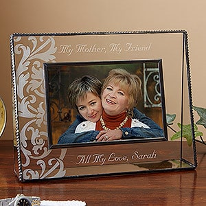 My Mother, My Friend Personalized Glass Frame - an elegant Mother's Day gift from her daughter that lets Mom know how much you enjoy your close bond.